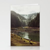 always Stationery Cards featuring Foggy Forest Creek by Kevin Russ