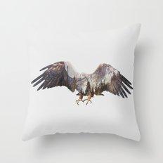 Arctic Eagle Throw Pillow