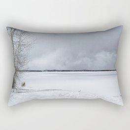Serenity - Jackson Lake in April Rectangular Pillow