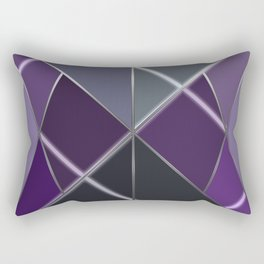 Mosaic tiled glass with a laser show Rectangular Pillow
