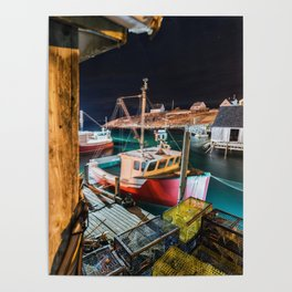 Peggy's Cove by Night Poster