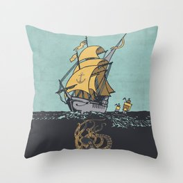The Secrets of the Sea Throw Pillow