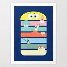 Krabby Party Art Print