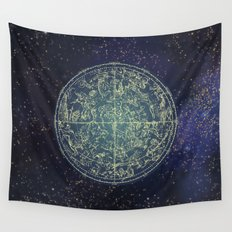 Ancient zodiac Wall Tapestry