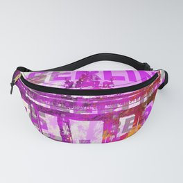 Berlin pop art typography illustration Fanny Pack
