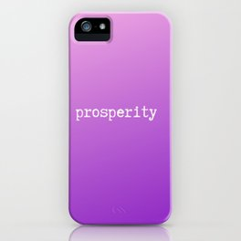 Beautiful purple ombre  decorative design with inspirational quotes and sayings iPhone Case