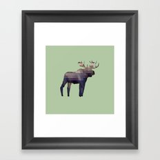The Moose Framed Art Print