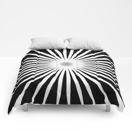 Starburst Black and White Pattern Comforters