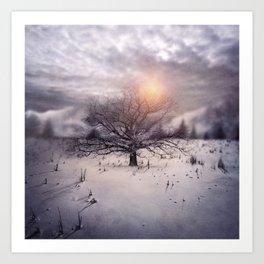 Lone Tree Love II Art Print