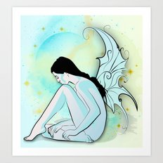 Blue Fairy Art Print