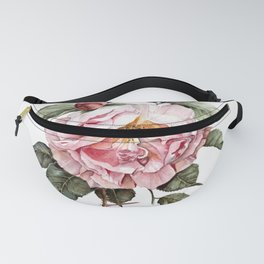 Wilting Pink Rose Watercolor Fanny Pack