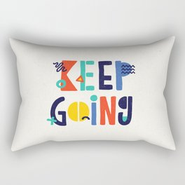Keep Going colorful memphis typography funny poster hand lettered bedroom wall home decor Rectangular Pillow