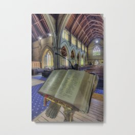 Let Us Pray Metal Print