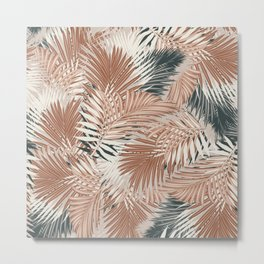 Neutral Palm Leaves / Nomade Mood Metal Print