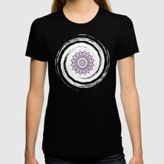 Star Mandala - JUSTART © Black MEDIUM Womens Fitted Tee