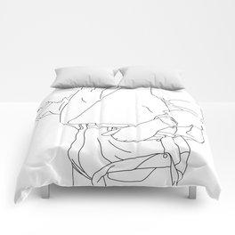 Fashion illustration line drawing - Cal Comforters