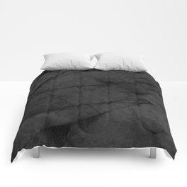 Dark Grey Matte Black Marble Comforters