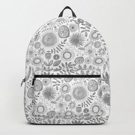 heart fleur mono Backpack