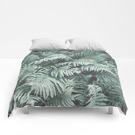 Fern Patten Turquoise Texture Comforters