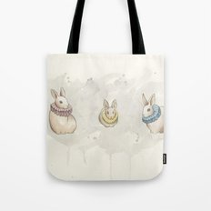 Rabbits in Ruffs Tote Bag