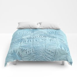 Abstract Tropical leaves Comforters