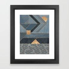Nordic Blue Framed Art Print