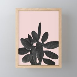 Black Blush Cactus #2 #plant #decor #art #society6 Framed Mini Art Print
