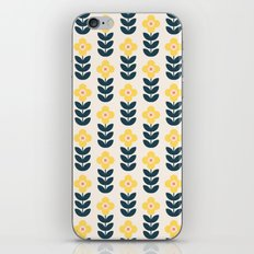 Vintage geometric flowers iPhone & iPod Skin