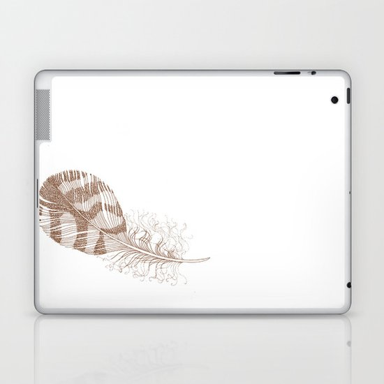 The Solitary Feather Laptop & iPad Skin