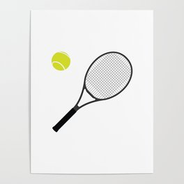 Tennis Racket And Ball 1 Poster