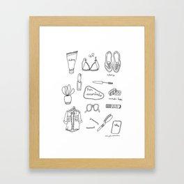 Her essentials Framed Art Print