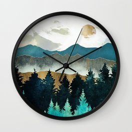 Forest Mist Wall Clock