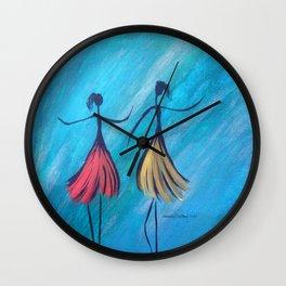 Showtime Teal Dancers Wall Clock