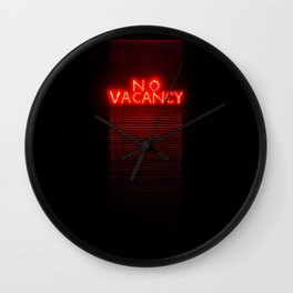 No Vacancy sign in red Wall Clock