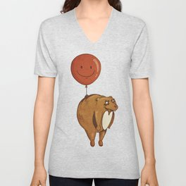 Float On, Bear, Float On Unisex V-Neck