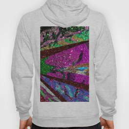 Fuschia Outer Space Forest Explosion Hoody