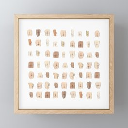 Lotsa Butts! Framed Mini Art Print