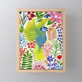 Beautiful Bird Garden Framed Mini Art Print
