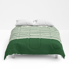 Holiday x Green Stripes Comforters