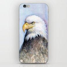 Bald Eagle Watercolor Bird Wildlife Animals iPhone & iPod Skin