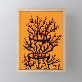fire coral Framed Mini Art Print