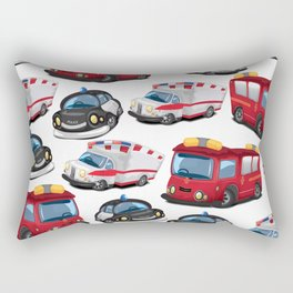 Fire, Police and Ambulance toy car pattern Rectangular Pillow