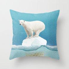Polar ice cream cap Throw Pillow