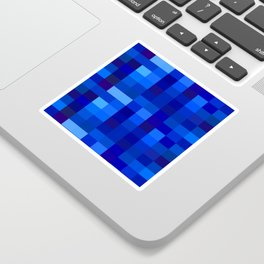 Blue Mosaic Sticker