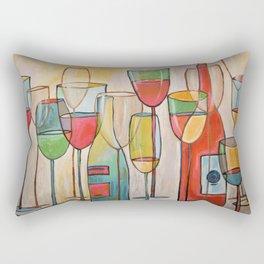 Abstract Modern Wine Art / Wine Tasting Rectangular Pillow