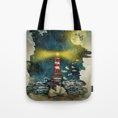 the sea is poetry Tote Bag