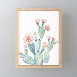 Cactus 2  White #society6 #buyart Framed Mini Art Print
