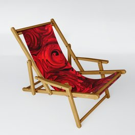 Red Apple Roses Abstract Sling Chair