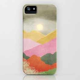 Colorful mountains iPhone Case