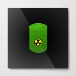 atomic waste barrel Metal Print